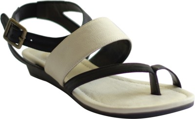 Kanabis Women White, Black Flats