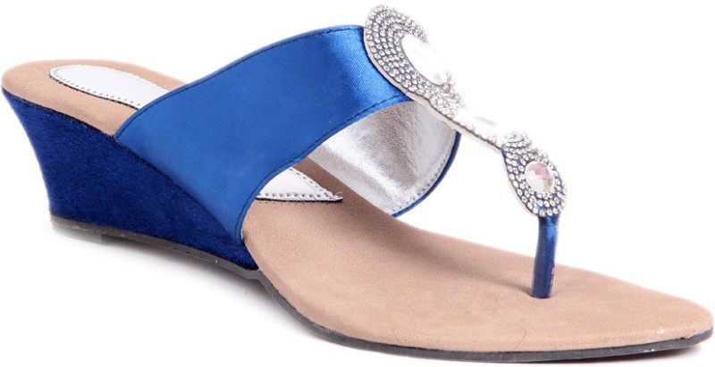 STFU Ethnic Women Blue Wedges