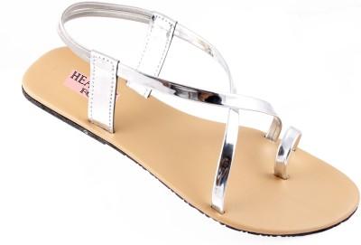 heavenfoot Girls Silver Flats