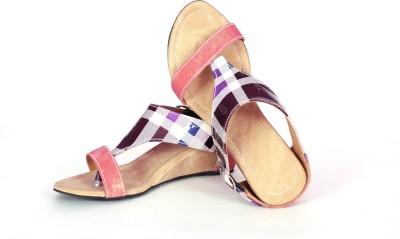 FolkNation Women Multicolor, Blue, Purple, Pink, Black Wedges
