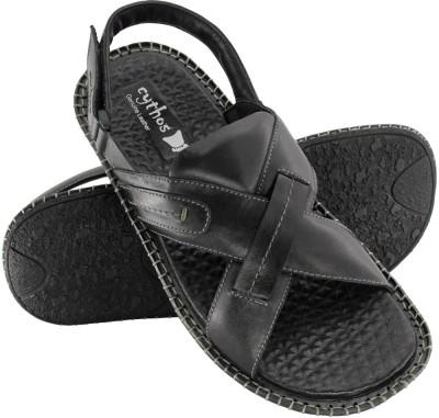 Cythos Moist Men Black Sandals