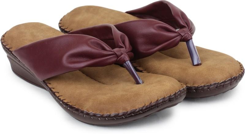 Doctor Soft Women Maroon Flats