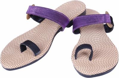 Footings Women Purple Flats
