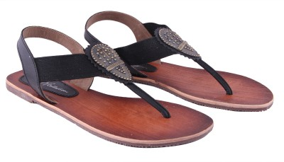 Ncollections Black Sandal Women Black Flats