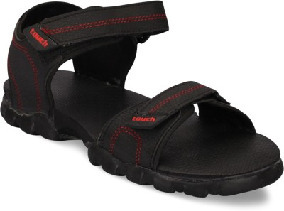 Touch Men Black, Red Sandals