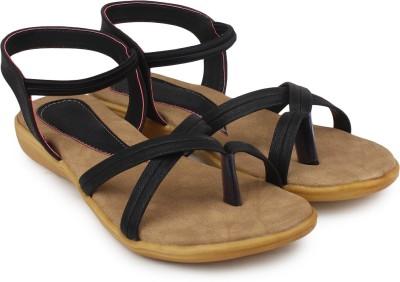 Ortan Women Black Flats