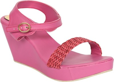 Fashionwalk Women Pink Wedges