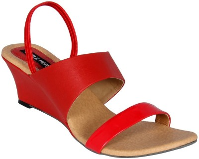 Style Her Women Red Wedges