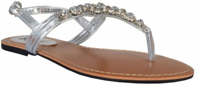 TSF Silver Sandal Women Silver Flats