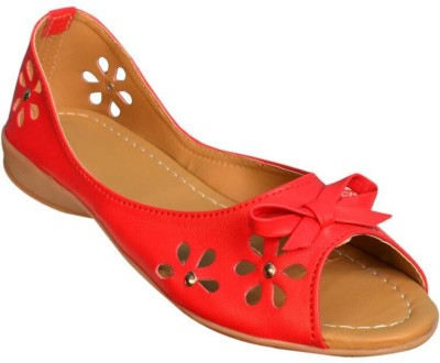 Jarwal Collection Women Red, Red Flats