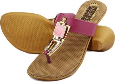 Anupamaa Pink Square Buckle Chappel Women Pink Heels