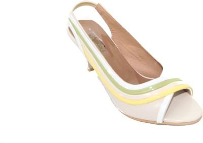 Florentyne Women Beige Heels