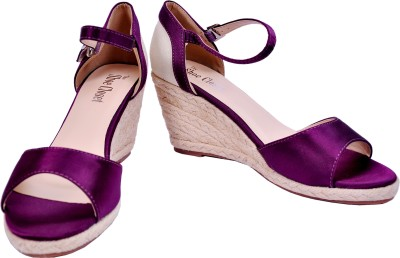 The Shoe Closet Women Purple Wedges