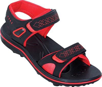 Amvi Red Cross Men Red, Black Sandals