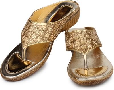 Bonzer Women Gold Wedges