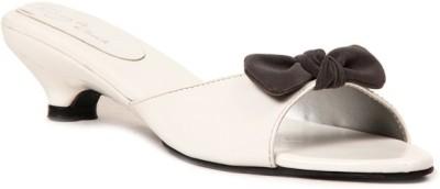 Lyc Women White Heels