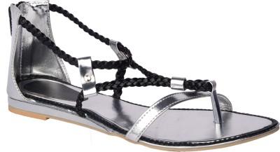 Relexop Women Silver Flats