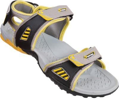 Vestire Men Grey, Yellow Sandals