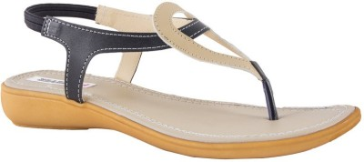 Pink Fever Women Black, Beige Flats