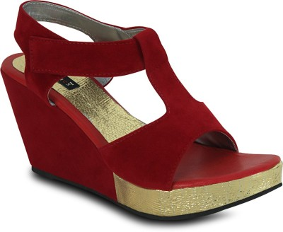 Get Glamr Women Red Wedges