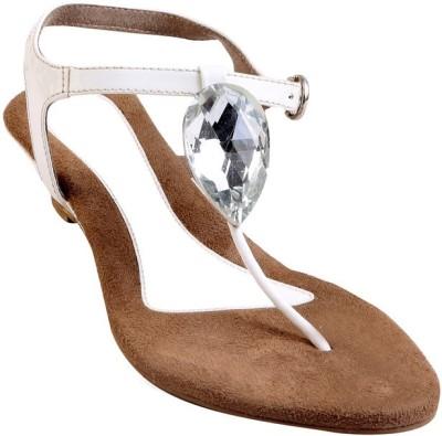 GLAMWALK Women White Heels