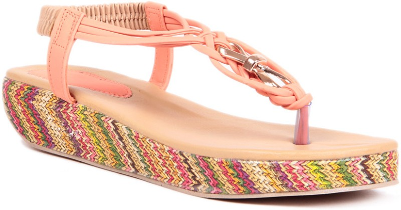 Sindhi Footwear Casual Women Orange Wedges
