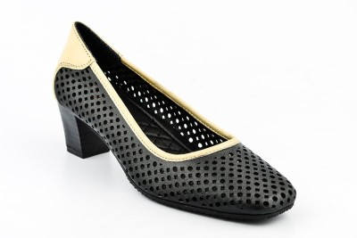 Lee Cooper Women Black, Beige Heels