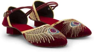 Little India Women Maroon Flats