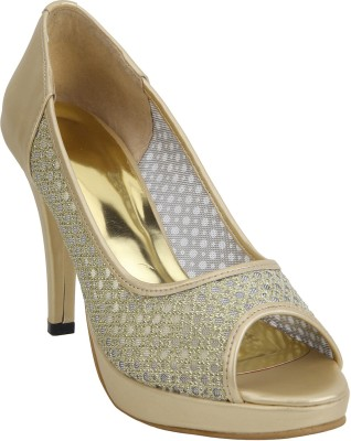 Glitzy Galz Women Gold Heels