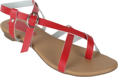 Niremo Women Red Flats