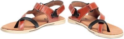 Pede Milan Rooney-Wood 1-Tan Men Tan Sandals