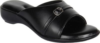 Niremo Black Fancy Synthetic Leather Women Black Flats