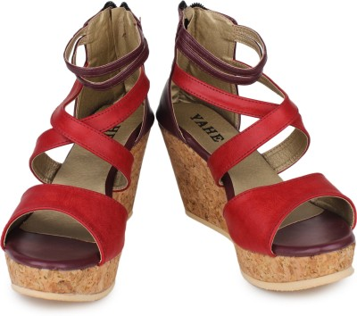Yahe Women Red Wedges