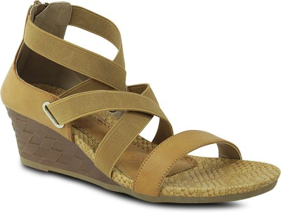 Get Glamr Women Beige Wedges