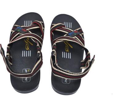Stylewalk Men Black, Beige Sandals