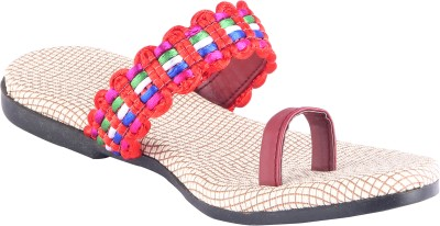 Footings Women Red Flats