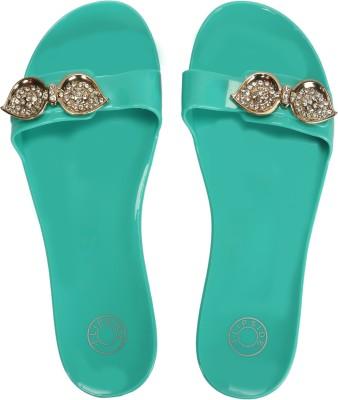 Flipside Ocean Green Slippers