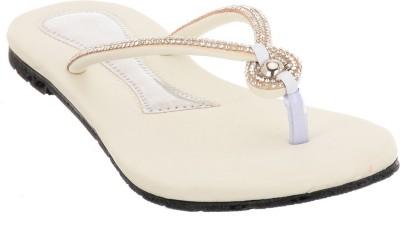 Brandvilla Women White Flats