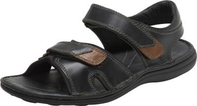 JCube Men Black Sandals