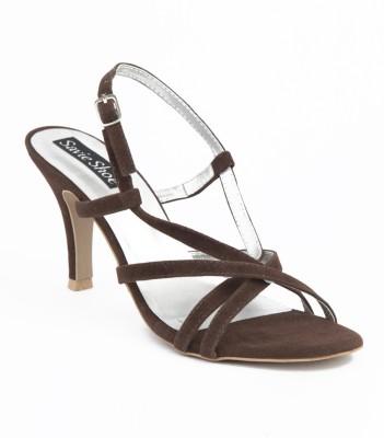 Savie Shoes SSN2 Women Brown Heels