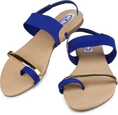Runwalk Women Blue Flats