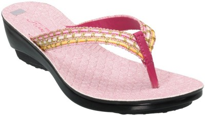 Action Shoes Women Pink Wedges