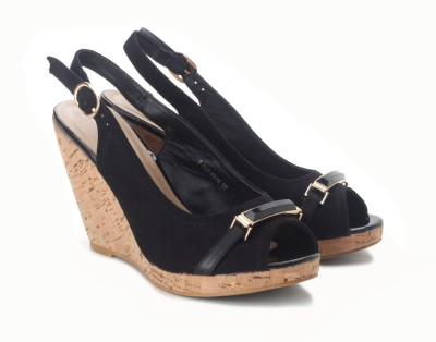 Tresmode Roplat-1 Women Women Black Wedges