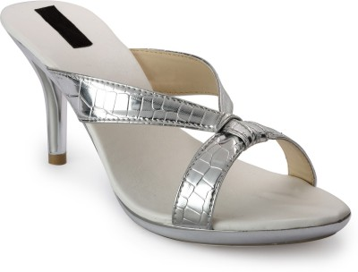 Something Different Women Silver Heels