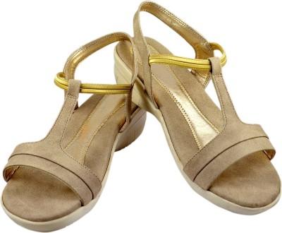 Canvera Women Khaki Heels