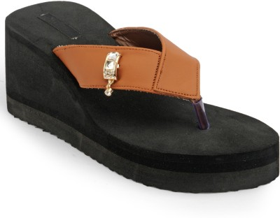Something Different Women Black, Brown Wedges
