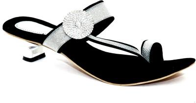 Angeela Women Black Heels