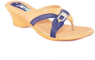 Dream Selection Women Blue Wedges