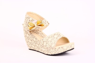 Anand Archies AA-VS-63 Women Gold Wedges