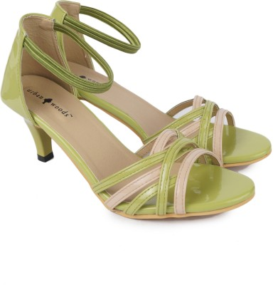 Urban Woods Green Women Green Heels